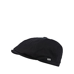 J by Jasper Conran - Designer black canvas baker boy cap