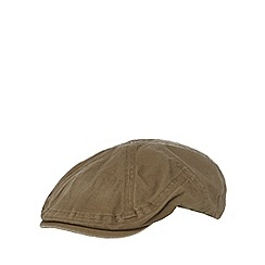 Mantaray - Khaki textured flat cap