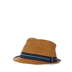 Red Herring - Natural bright band trilby