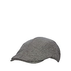 Red Herring - Grey multi seam flat cap