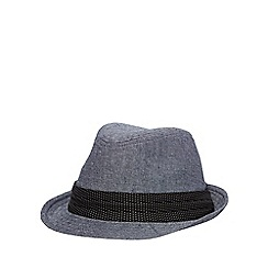 Osborne - Navy canvas trilby hat