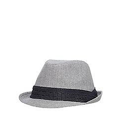 Osborne - Grey canvas trilby hat