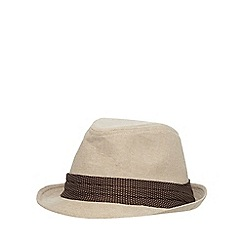 Osborne - Natural canvas trilby hat