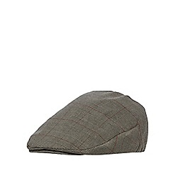 Osborne - Brown highlighted check flat cap
