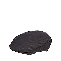 Osborne - Dark grey mini dogtooth print flat cap
