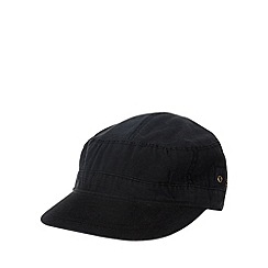 Mantaray - Black buckle strap train driver cap