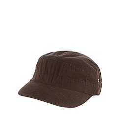 Mantaray - Brown tab trim train driver hat