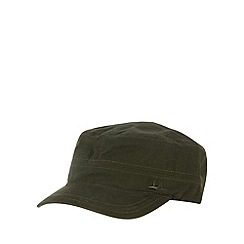 Mantaray - Khaki canvas train driver cap