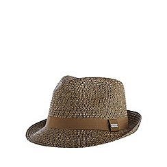 J by Jasper Conran - Designer brown two tone woven trilby hat