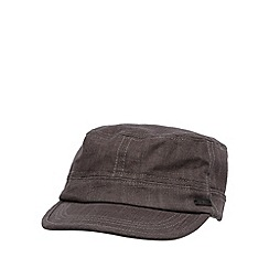 RJR.John Rocha - Designer grey linen blend train driver hat