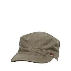 RJR.John Rocha - Designer khaki linen blend herringbone train driver hat