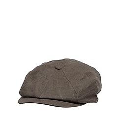 RJR.John Rocha - Designer grey linen blend baker boy cap