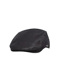 J by Jasper Conran - Designer black plain flat cap