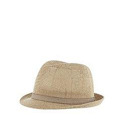J by Jasper Conran - Designer natural woven trilby hat