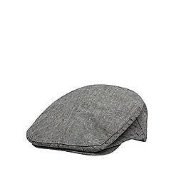 J by Jasper Conran - Designer grey linen blend flat cap