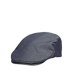 J by Jasper Conran - Designer navy chambray flat cap