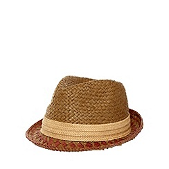 Mantaray - Brown pattern brim trilby