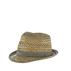 Red Herring - Natural oiled brim straw trilby hat