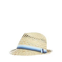 Red Herring - Natural graduated band trilby