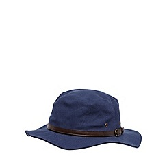 Osborne - Navy canvas belted hat