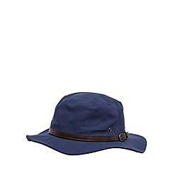 Osborne - Navy canvas belted hat