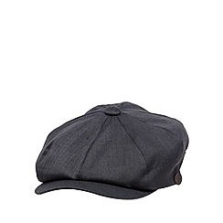 Hammond & Co. by Patrick Grant - Designer navy herringbone baker boy cap