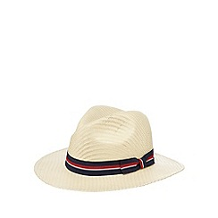 Hammond & Co. by Patrick Grant - Designer natural contrast trim straw hat