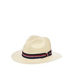 Hammond & Co. by Patrick Grant - Designer natural contrast trim straw hat
