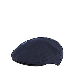 Hammond & Co. by Patrick Grant - Designer navy cotton herringbone flat cap