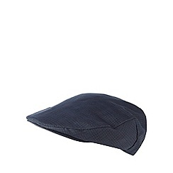 Osborne - Navy mini check flat cap