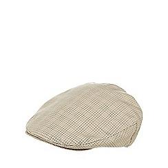 Osborne - Natural mini dogtooth flat cap