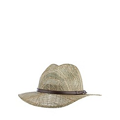 Osborne - Natural straw fedora hat