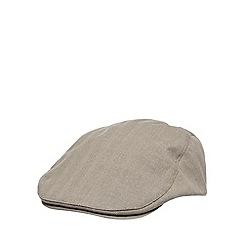 RJR.John Rocha - Designer natural linen blend contrast flat cap