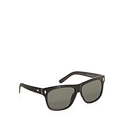 Red Herring - Textured temple squared plastic sunglasses