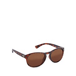 Red Herring - Keyhole rounded d frame matt tortoiseshell sunglasses