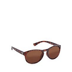 Red Herring - Keyhole rounded d frame matt tortoiseshell sunglasses
