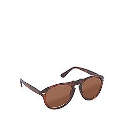 Red Herring - Keyhole fashion plastic tortoiseshell sunglasses