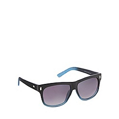 Red Herring - Textured temple squared plastic grad  sunglasses