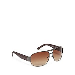 FFP - Brown lensed plastic aviator sunglasses