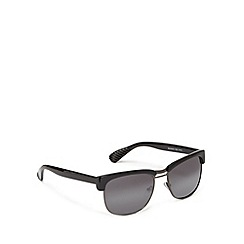 FFP - Grey plastic retro inspired semi rimless sunglasses