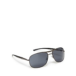 FFP - Grey tinted thick metal aviator sunglasses