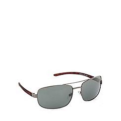 Maine New England - Full frame shiny gunmetal tortoiseshell arms sunglasses
