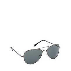 Maine New England - Aviator shiny gunmetal sunglasses