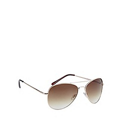 Maine New England - Aviator shiny gold sunglasses