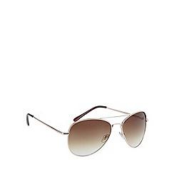 Maine New England - Aviator shiny gold sunglasses