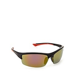 Mantaray - Polarized half frame matt black sunglasses