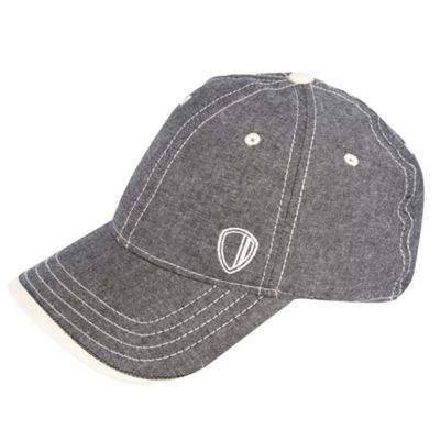 Blue chambray baseball cap