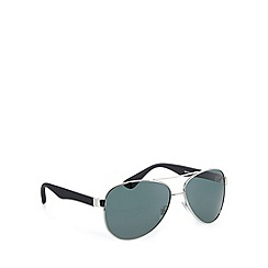 Mantaray - Polarized aviator silver sunglasses