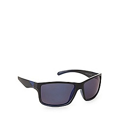 Mantaray - Polarized square sports plastic matt black sunglasses