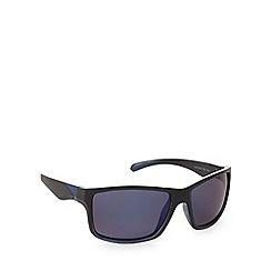 Mantaray - Polarized square sports plastic matt black sunglasses